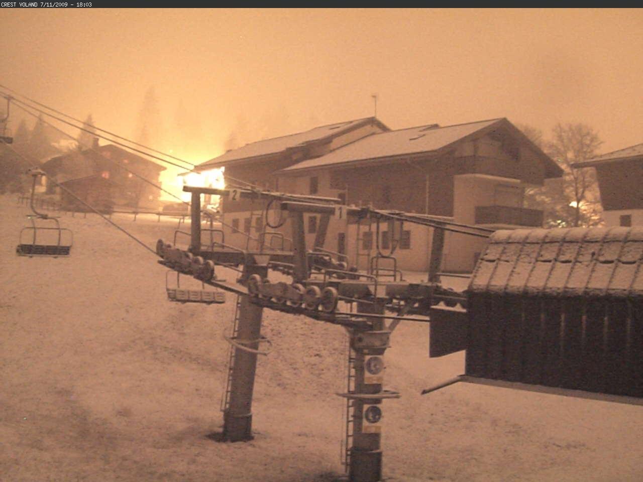 Crest-Voland enfin sous la neige !