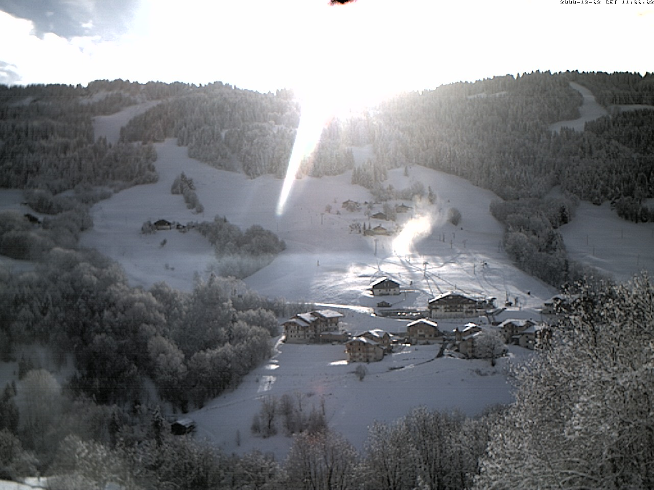 Neige et Soleil sur Flumet !