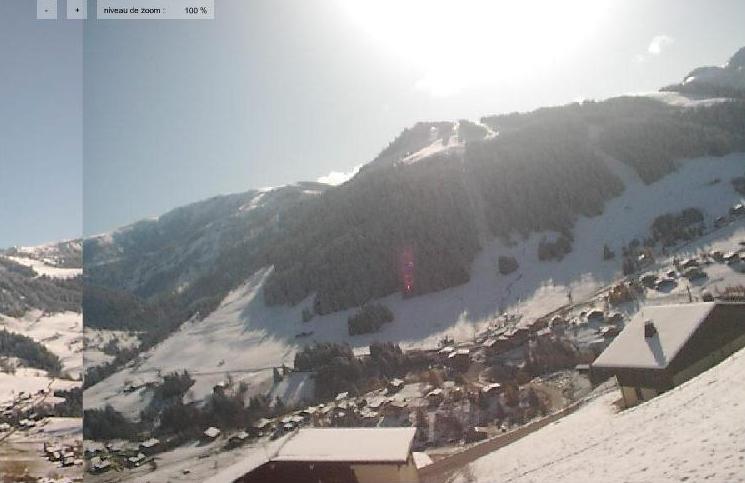 Le Mont Rond sous la neige et le soleil