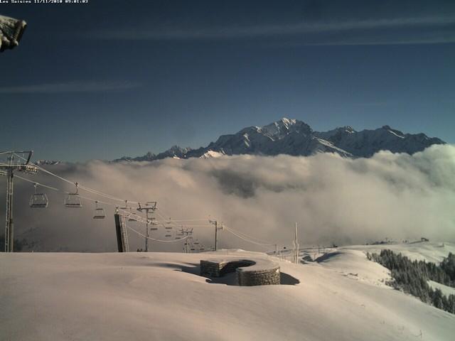 Plusieurs dizaines de centimètres de neige au sommet de Bisanne