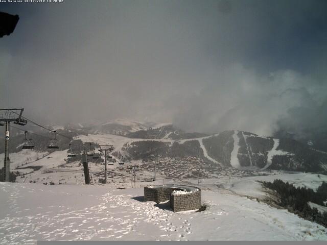 Déjà plusieurs centimètres de neige au sommet de Bisanne