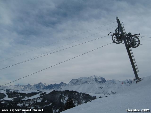 La Chaîne du Mont Blanc depuis le massif du Crêt du Midi