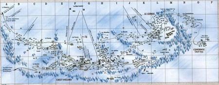 Plan de la station de Crest-Voland/Cohennoz