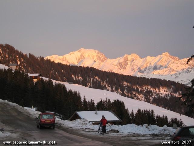...vue sur le Mont Blanc